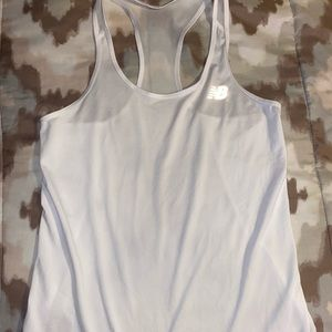 White racer back dry fit workout top